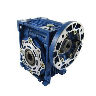 گیربکس حلزونی سهند ، سری کتابی W سایز 50 نسبت 10:1 ورودی 19 خروجی 25 میلیمتر، فلنج 80B14 کد فنی SAHAND-W050-10:1-80B14