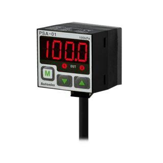 سنسور و کنترلر فشار PNP مربعی نمایشگر دار 12 تا 24 ولت دیسی 3 سیم مدل PSA-C01P اتونیکس